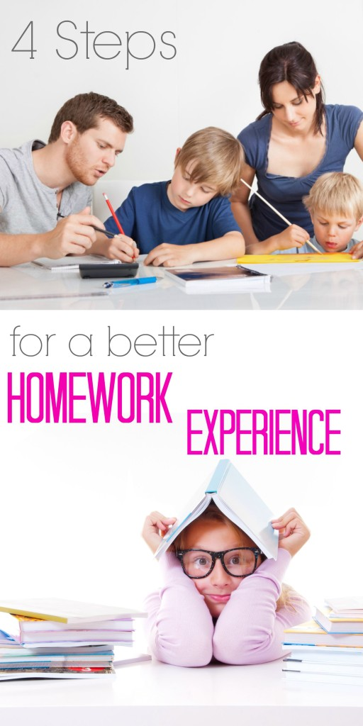 4 Steps for a Better Homework Experience | ilslearningcorner.com #homeworktips