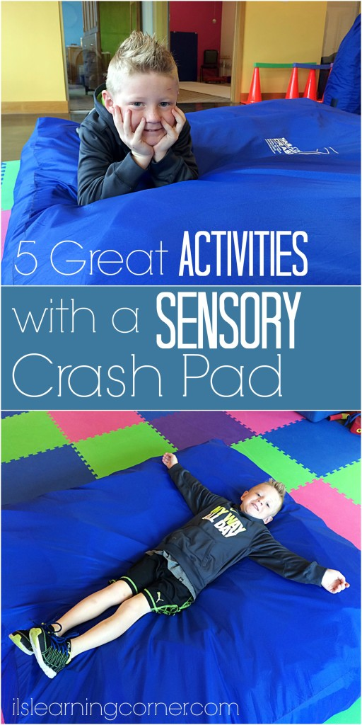 5 Great Activities to do with a Sensory Crash Pad | ilslearningcorner.com #sensory
