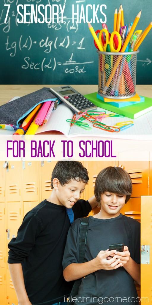 7 Sensory Hacks for a Smooth Back to School Transition | ilslearningcorner.com #backtoschool #sensory