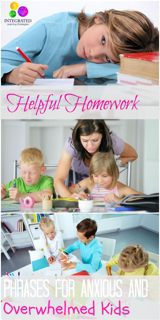 15 Important Phrases You Should Say to Avoid Homework Meltdowns with Your Anxious Child | ilslearningcorner.com #backtoschool #homework