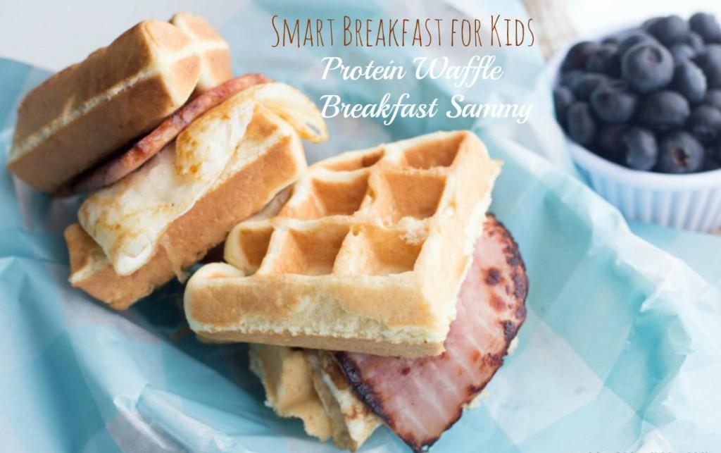 Smart Breakfast for Kids: Protein Waffle Breakfast Sammy for Smarter Kids | ilslearningcorner.com #breakfastforkids #kidsbreakfastrecipes