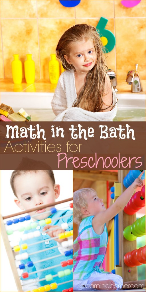Common Core Math in the Bath Activities for Preschoolers | ilslearningcorner.com #math #commoncore #preschoolers