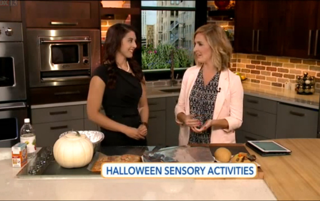 Halloween Sensory Activities on Fox 13's The Place | ilslearningcorner.com