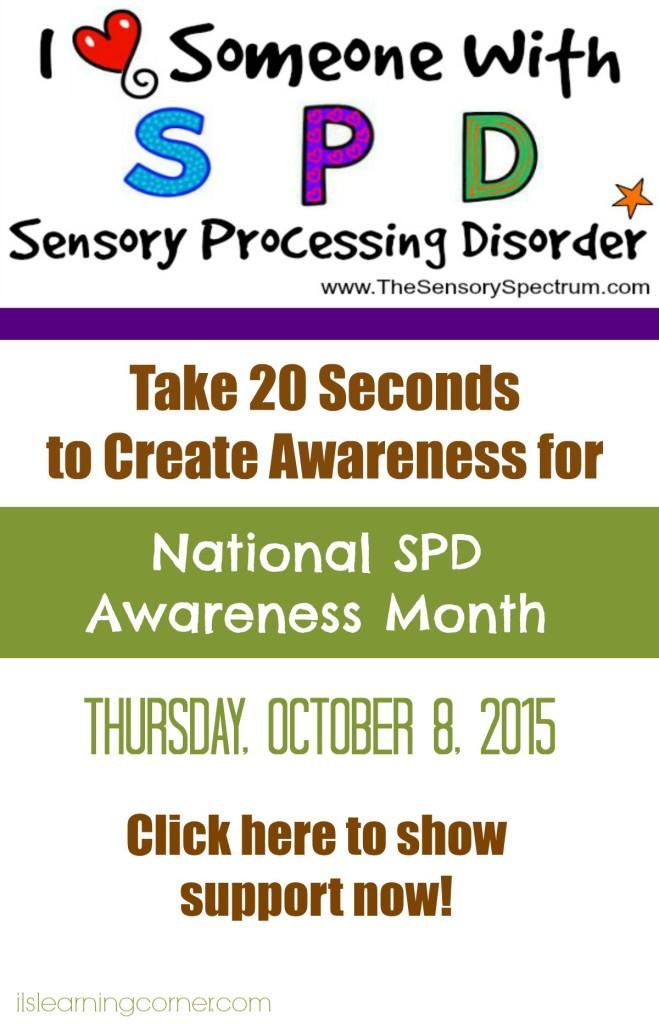 Support us for National Sensory Processing Disorder (SPD) Awareness Month | ilslearningcorner.com #spd #SensoryAwareness #Sensory